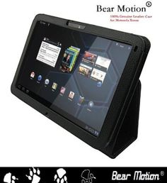Bear Motion ® 100% Real Leather Case for For Motorola Xoom 10.1 inch tablet (3G  4G WI-FI 16 GB 32 GB 64 GB) - Xoom Case Google Android 3.0 Honeycomb Black (NOT Compatible with XOOM Family and XOOM 2)