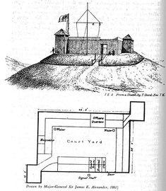 The Omata stockade, Taranaki - This Day in History: Mar 28,1860: First Taranaki War: The Battle of Waireka begins. http://dingeengoete.blogspot.com/