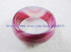 Free Shipping     good luck Natural Purple agate Round by jadeGift, $16.99