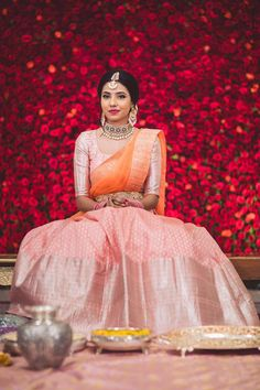 Ditch that saree and pick up a lehenga saree instead. When you can have the best of both world - lehenga and a saree, then why opt for the usual wedding attire. Lehenga Sarees are a great way to add . Lehenga Saree Design, Half Saree Lehenga, Saree Gown, Lehenga Designs, Sari, Lehanga Saree, Anarkali Kurti, Lahenga, Indian Bridal Outfits