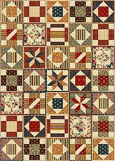 """Create Your Own """"Potholder Quilt"""", Freebies and Features Articles, Marcus Fabrics"""