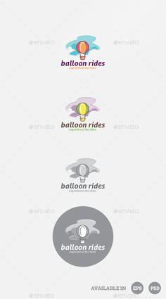 Balloon Logo Template PSD, Vector EPS