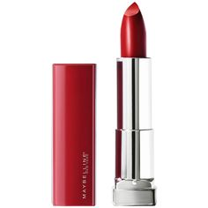 The Best Red Lipsticks for Fair, Medium, and Deep Skin Tones | Allure Best Drugstore Red Lipstick, Best Pink Lipstick, Maybelline Lipstick, Satin Lipstick, Natural Lipstick, How To Apply Lipstick, Pink Lipsticks, Lipstick Shades, Lipstick Colors