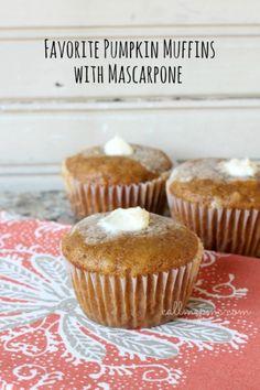 Favorite Pumpkin Mascarpone Muffins - Call Me PMc