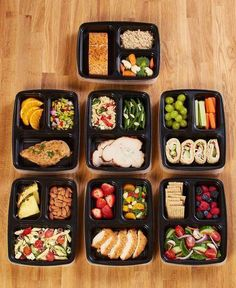 The Meal Prep Containers make life less of a hassle as you get ready for work or school. Cook once and divide into 7 meals using these containers. They're also helpful for dieters, as the 3 sections of each container make portion control easy. Healthy Meal Prep, Healthy Snacks, Healthy Eating, Healthy Lunches For School, Easy Lunch Meal Prep, Healthy Meals For Dinner, Healthy Everyday Meals, Meal Prep Grocery List, Meal Prep For Work