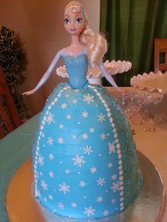 Frozen Elsa Doll Birthday Cake