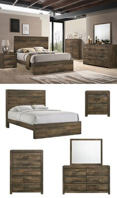 The Bailey Panel collection gives your bedroom a uniquely authentic look with the rustic wood planks and varied warm tones throughout. The light and dark scoring in the wood and the brushed bronze hardware intermingle gracefully for a pleasing effect. The solid wood framing is durable enough to last for years. The Bailey Panel Bed is the perfect collection for the ideal homey, relaxing environment. Shop online or in-store at Great American Home Store in Memphis, TN, and Southaven, MS. #bedroom