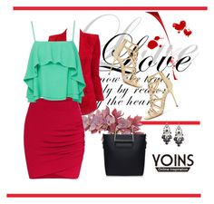 """""""Yoins skirt"""" by woman-1979 ❤ liked on Polyvore featuring Balmain, Apiece Apart, Sergio Rossi and yoins"""