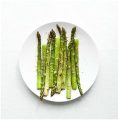 Quick Roasted Asparagus: Toss asparagus with olive oil, salt and pepper. Broil until tender for 3 to 5 minutes.