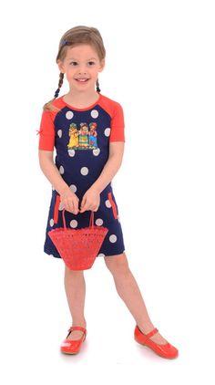 Dress Transfer blue dot Br@nd for girls summer 2016 www.brandforgirls.nl