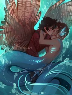 *NOT PJO* this reminds me of Percico tbh @Elentori Kiss Kiss Drown at Sea (art for Watercast by @fishwrites <3) #klance