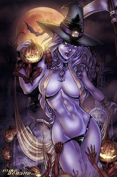 Lady+Halloween+by+yusutina.deviantart.com+on+@DeviantArt