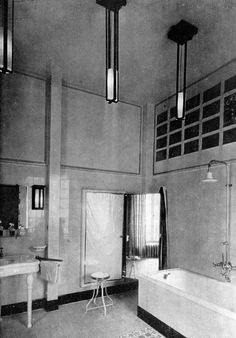 mallet stevens French Architecture, Interior Architecture, Interior And Exterior, Interior Design, 1930s Bathroom, Vintage Bathrooms, Robert Mallet Stevens, Wet Rooms, Bauhaus