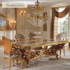Classic Dining Room Furniture, Dining Room Decor Elegant, Dining Room Console, Dining Room Table Decor, Country Dining Rooms, Dining Table Design, Dining Furniture, Luxury Furniture, Antique Dining Chairs