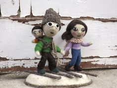 Winter Decor Christmas Gift Wedding Cake Topper MADE by Pupillae