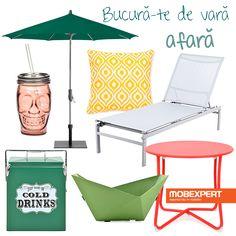 Planul pentru astăzi: un șezlong comod, o limonadă rece și un decor colorat. Pentru tine cum arată după-amiaza perfectă? #decoideea #moodboard #terasa #gradina