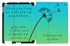 A Hundred Wishes Quote on your iPad Case Blue by ShowYourFlipside