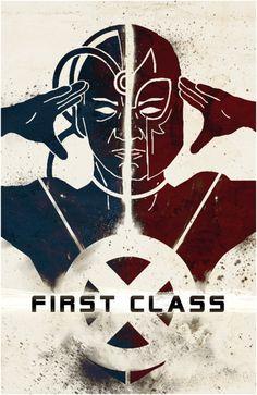 X-Men First Class Poster someone made. It's cooooooooooolllll......