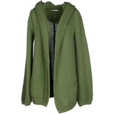 Roberto Collina Cardigan ($170) ❤ liked on Polyvore featuring tops, cardigans, green, long sleeve cardigan, lightweight cardigan, merino cardigan, merino wool cardigan and green top