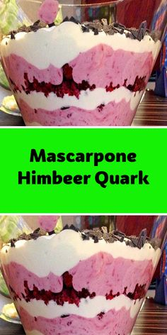 Mascarpone Himbeer Quark – Recipes And Desserts Easy Strawberry Desserts, Quick Easy Desserts, Summer Dessert Recipes, Bite Size Desserts, Fancy Desserts, Pudding Desserts, Köstliche Desserts, Chocolate Desserts, Delicious Desserts