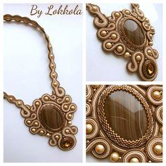 Shibori, Soutache Necklace, Pendant Necklace, Jewelery, Jewelry Necklaces, Beading Ideas, Handmade, Accessories, Fashion