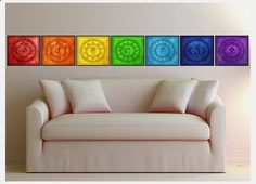 Seven 10x10 inch Chakra Sacred Geometry Prints 1. Root Chakra (Muladhara) 2. Sacral Chakra (Svadisthana) 3. Solar Plexus Chakra (Manipura)