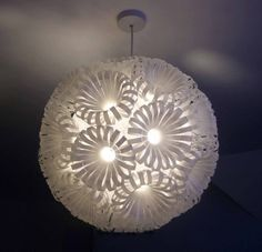 light made with plastic drink bottles
