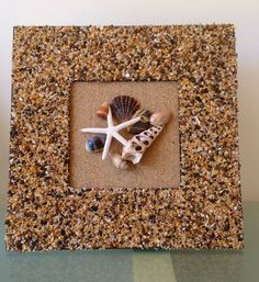 Seashells & Starfish in Crushed Shell Frame by TranquilityCoastal, $60.00