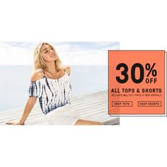 30% Off All Tops & Shorts @ Just Jeans - Bargain Bro