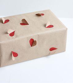 DIY Verpackungs-Idee mit Packpapier