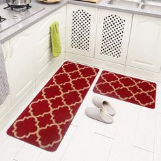 Kitchen & Dining Soft 2Pcs Long Bathroom Rugs Runner Set ...