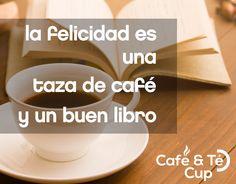 La felicidad es una taza de café y un buen libro. ¡Feliz día del libro! Felicidades a todos los Jordi y Jorge  #FelizDiaDelLibro #santjordi