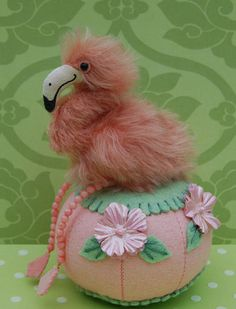 Flamingo and Hibiscus Pincushion | Flickr - Photo Sharing!