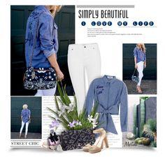 """Blogger Street Style"" by thewondersoffashion ❤ liked on Polyvore featuring Vero Moda, MSGM, Yves Saint Laurent, Chanel, Jimmy Choo, Anita Ko and Venyx"