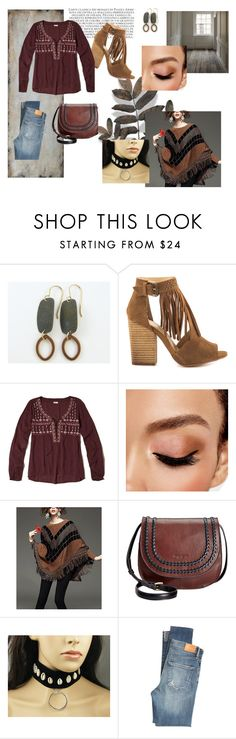 """Rustic Boho Chic"" by crsevier ❤ liked on Polyvore featuring Chinese Laundry, Hollister Co., Avon, Tignanello, Citizens of Humanity, Uttermost and rustic"