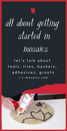 All About Getting Started in Mosaics – Mosaic Mosaic Garden Art, Mosaic Tile Art, Mosaic Flower Pots, Mosaic Artwork, Mosaic Diy, Mosaic Stepping Stones, Stone Mosaic, Mosaic Glass, Stained Glass