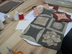 Sashiko tutorial - português - origami patchwork