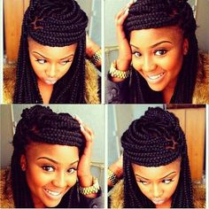Box braid styles. To learn how to grow your hair longer click here - http://blackhair.cc/1jSY2ux