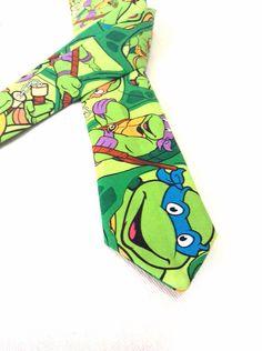 Ninja Turtles Tie on Etsy, $30.00
