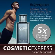 #Gewinnspiel #Facebook #yvessaintlaurent #Kouros #Silver #CosmetiExpress Yves Saint Laurent, Facebook, Silver, Eau De Toilette, Perfume Store, Top, Money