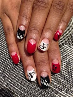 @joymarilie. My latest design.  Music nail designs.