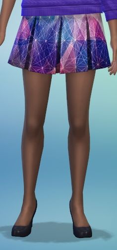 The simsperience: 8 Printed Pleated Skirt - Sims 4 Downloads