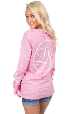 Candy Pink - Lauren James Signature Sleeve Print - Long Sleeve Back