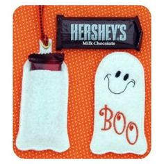 In The Hoop :: Candy & Treat Holders :: Snack Size Candy Bar Holders - Embroidery Garden In the Hoop Machine Embroidery Designs