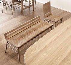 Contemporary Wooden Furniture, Crafted in the Basque Country Bench Furniture, Design Furniture, Furniture Styles, Wooden Furniture, Chair Design, Cafe Bench, Bench Designs, 3d Models, Ottoman Bench