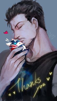 #Stony #TonyStark #IronMan #CaptainAmerica