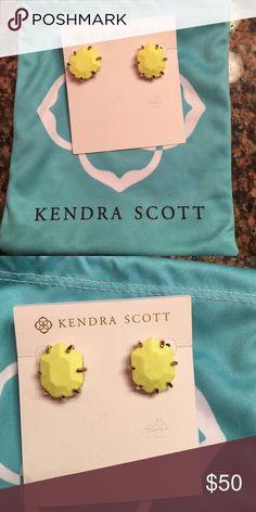 Kendra Scott Earrings Bright yellow Kendra Scott earrings Kendra Scott Jewelry Earrings