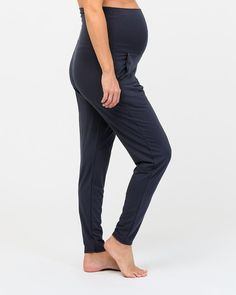 Blissfully comfortable and breathable, these pants will soon become an integral piece of your ethical maternity wardrobe. A soft and cooling high waistband comfortably covers your bump and can be folded down to create a low rise style. A tapered leg flatters your shape and creates the perfect fit.  Organic bamboo High rise, elasticized waist Side hip pockets Thermoregulating sleepwear Natural and hypoallergenic bamboo benefits such as odour-wicking, antibacterial, moisture-wicking Maternity Wardrobe, Pregnancy Wardrobe, Technology Design, Bump, Bliss, Perfect Fit, Bamboo, Capri Pants, Organic