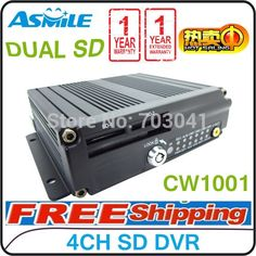221.05$  Buy now - TOP 10 4ch sd card mobile dvr with dual sd card supporting CW1001 (DVR + G-SENSOR)  #shopstyle