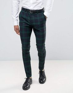 a0763daac3c10 Asos Super Skinny Suit Pants in Large Blackwatch Check